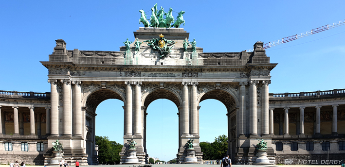 Parc du Cinquantenaire Bruxelles - Hôtel Derby Copyright 2021 BELGIQUE